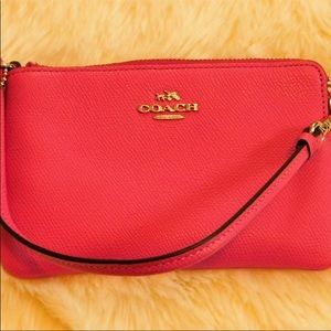New Coach wristlet in pink